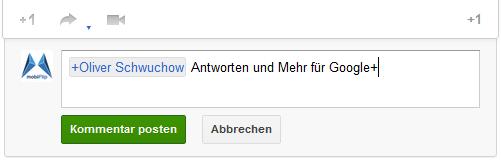 addon antworten chrome Google kommentare plugin tipp
