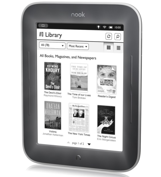 Barnes & Noble e-book e-ink nook us