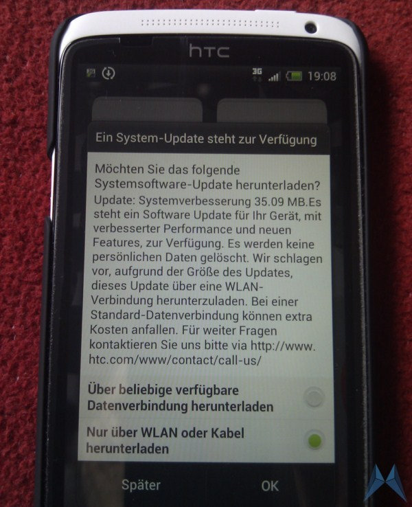 Android bug Display exklusiv FOTA Google HTC one x ota Update