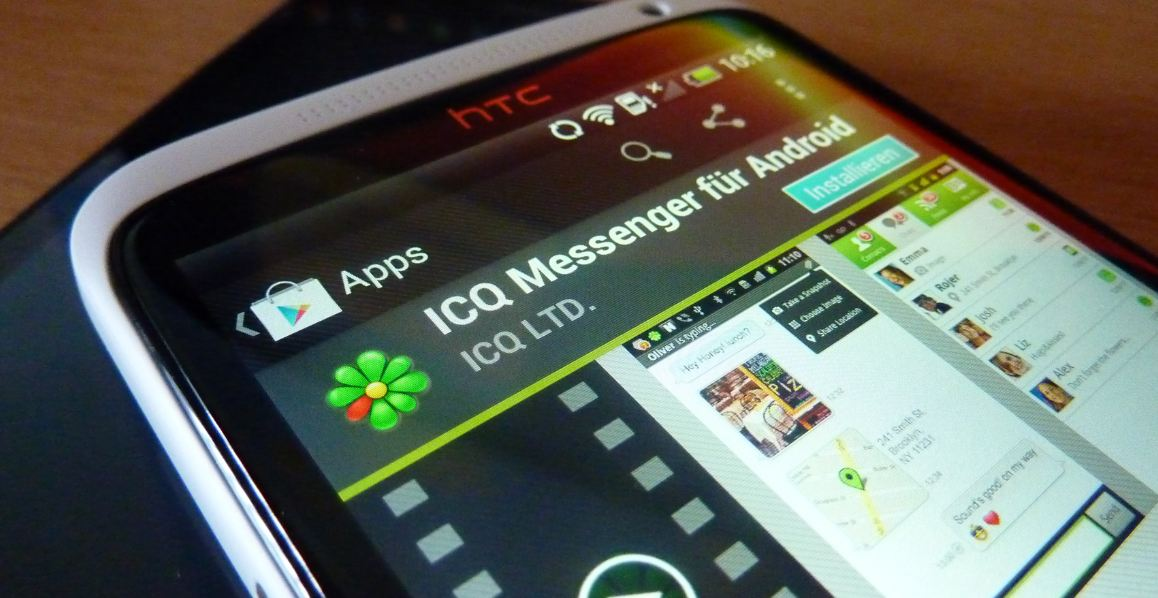 Android app store Apple download ICQ iOS iPad iphone Messenger play store