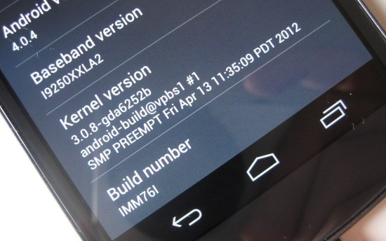 Android Galaxy Nexus Google IMM76I ota Samsung Update