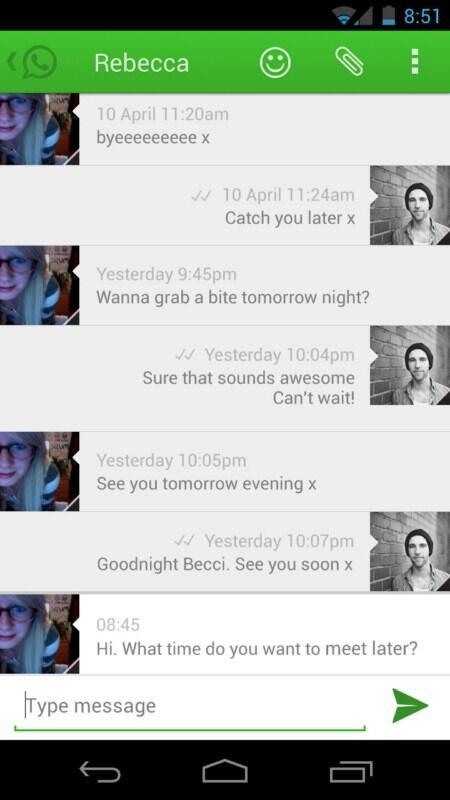 4.0 Android ICS Konzept Messenger whatsapp