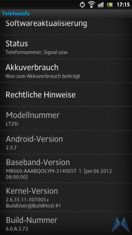 Android Sony Update xperia s