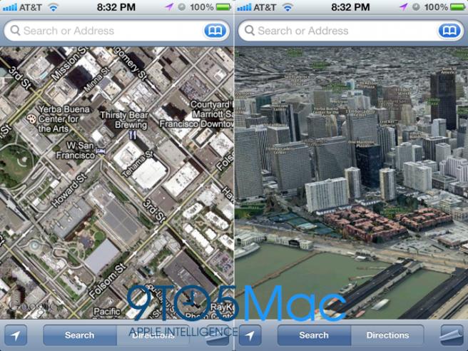 Apple Google iOS iPad iphone Maps
