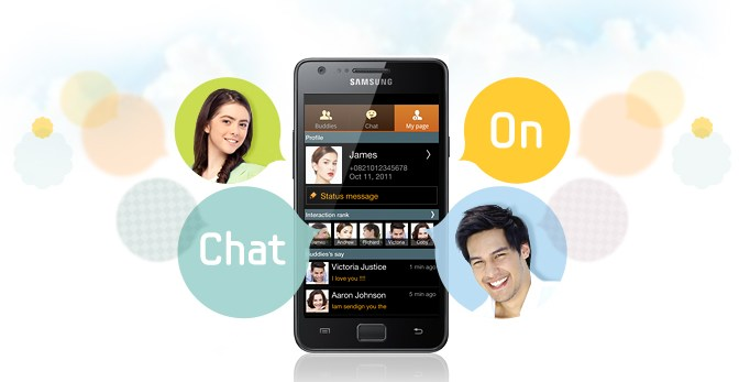 Android app chaton Samsung Update