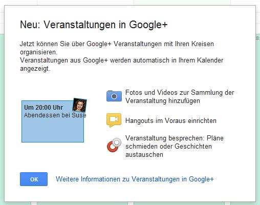 events Google kreise Netzwerk social veranstaltungen