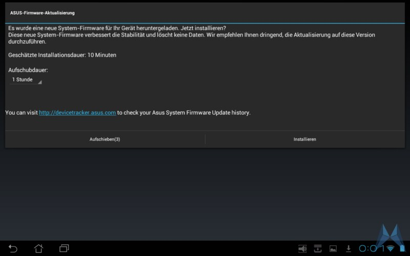 Android Asus bugfix Eee Pad ota TF101 transformer Update