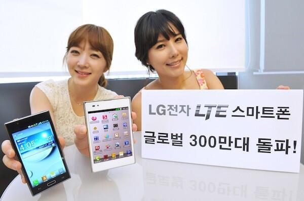 LG LTE Smartphones Verkaufszahlen