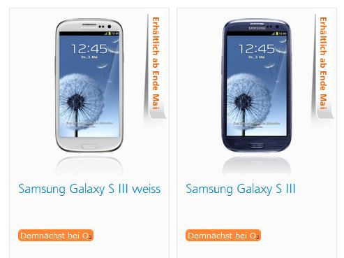 Android galaxy s3 o2 Samsung Vertrag