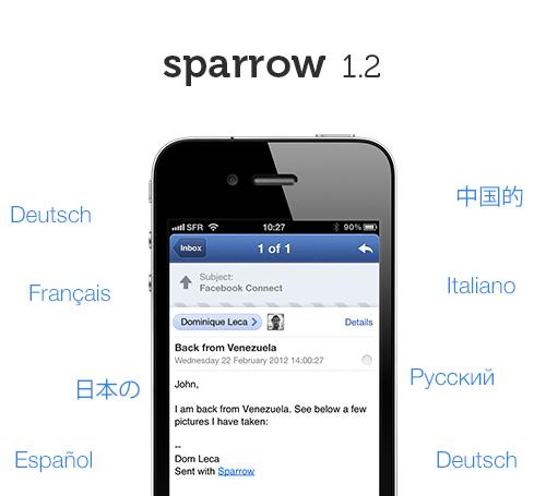 deutsch iOS iphone push sparrow Update