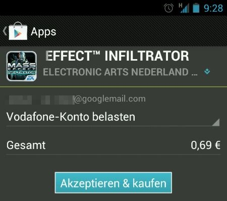 1und1 Android Apps Google play store