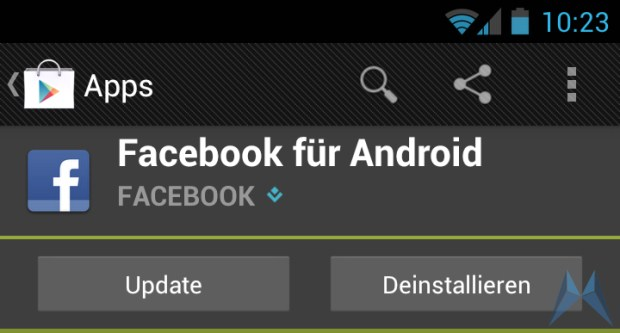 Android facebook social Update