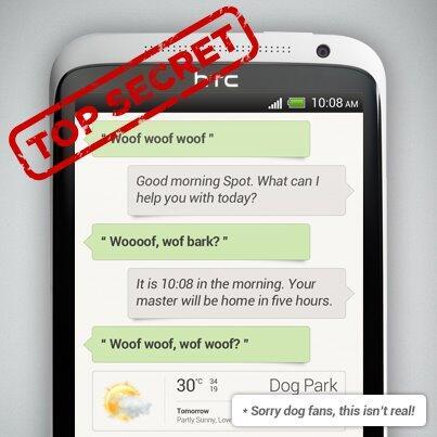 Android HTC mockup s voice siri Sprachsteuerung