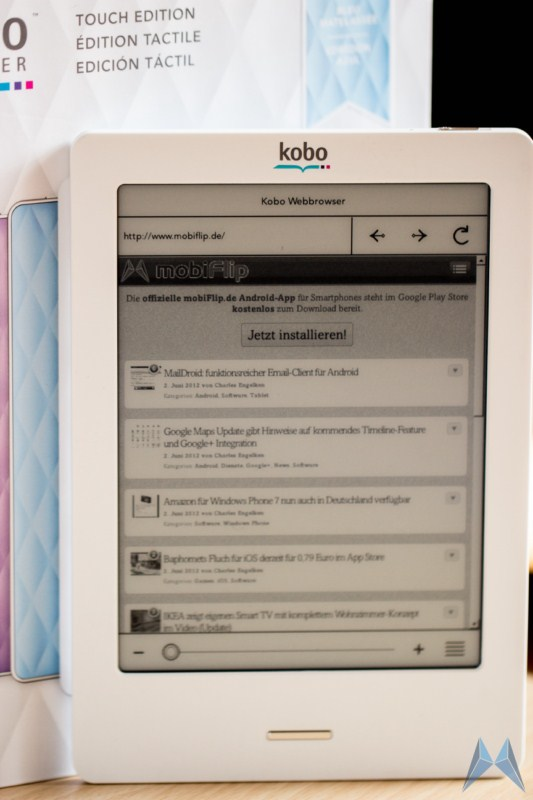 ebook ereader kobo review test