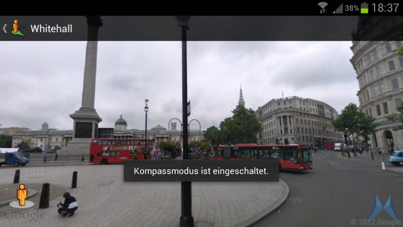 Android Google kompass Maps navigation streetview Update