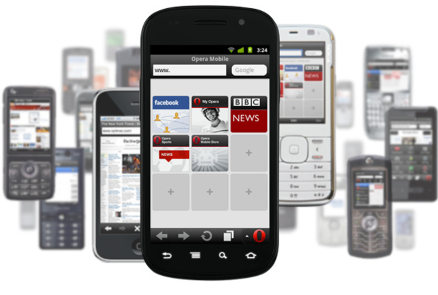 Apps BlackBerry-Apps Browser feature phones Opera Symbian