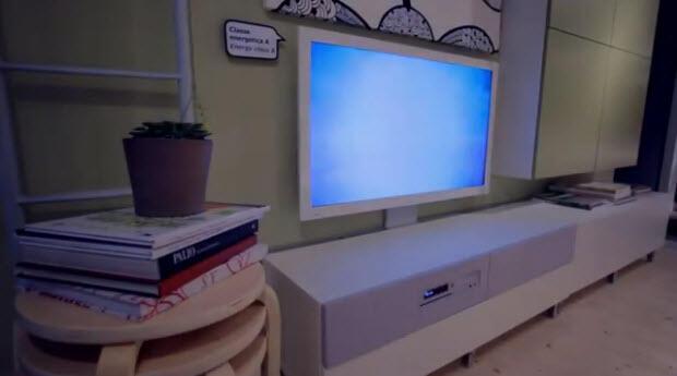 ikea zeigt eigenen smart tv mit komplettem wohnzimmer konzept im video update. Black Bedroom Furniture Sets. Home Design Ideas