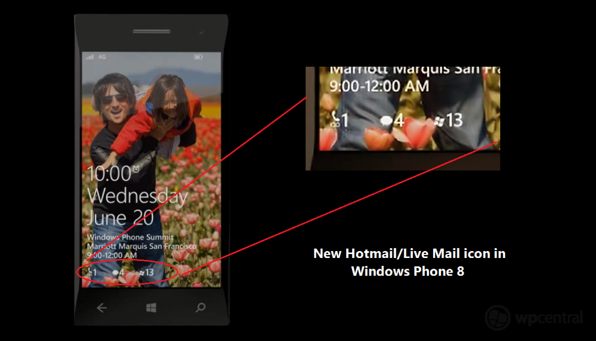benachrichtigungen lockscreen microsoft Windows Phone