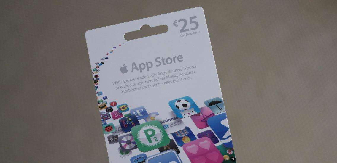 Apple guthaben iOS itunes karte rewe