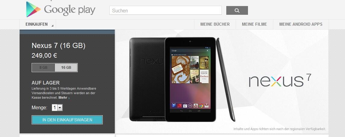 Android Asus Google nexus nexus 7 play
