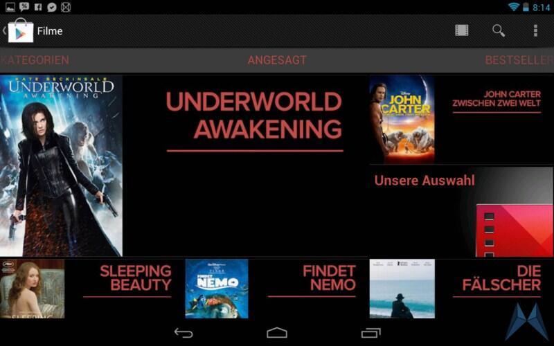Android ausleihen dvd filme Google play play store videothek