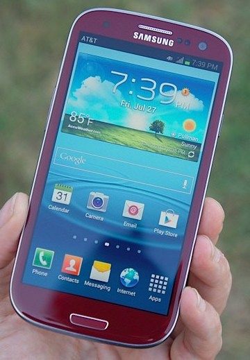 Android galaxy s3 o2 rot Samsung