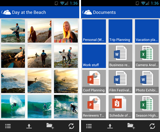 Android microsoft neu online skydrive Speicher