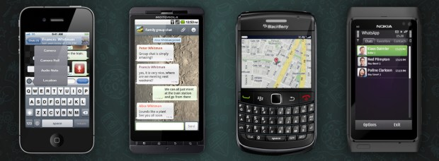 Android BlackBerry-Apps instant messaging iOS Verschlüsselung whatsapp Windows Phone