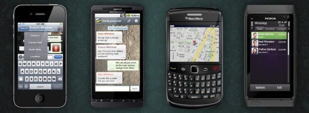 Android BlackBerry-Apps instant messaging iOS Verschlüsselung whatsapp Windows Phone