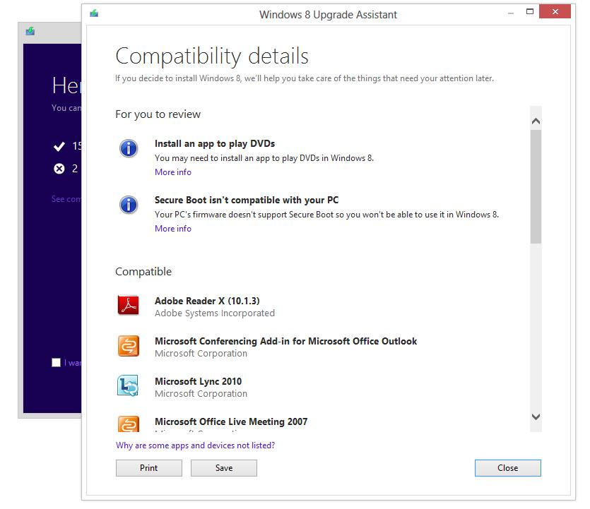 Update upgrade Windows Windows 8