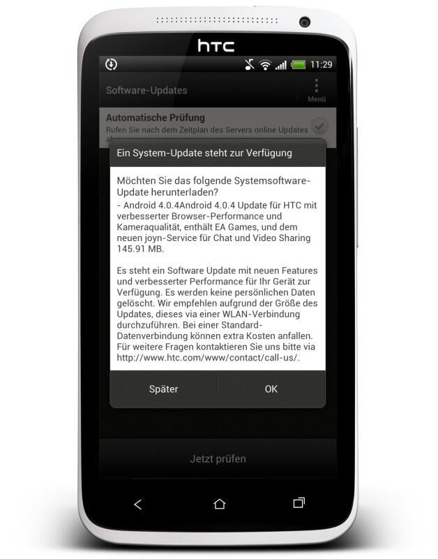 4.0.4 4.1 HTC one x ota Update Vodafone