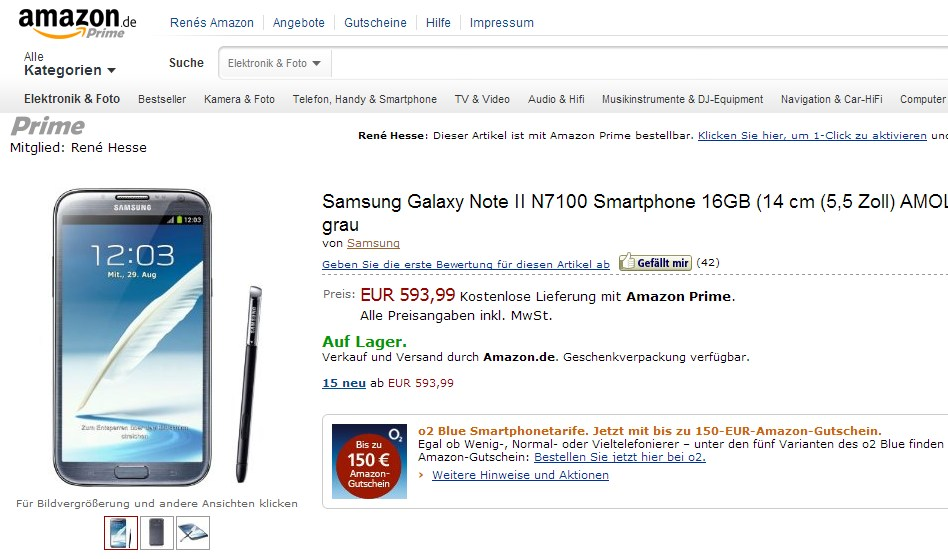 amazon Android galaxy note 2 note 2 Samsung