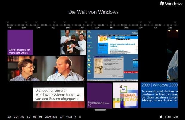 microsoft ms os timeline web Windows