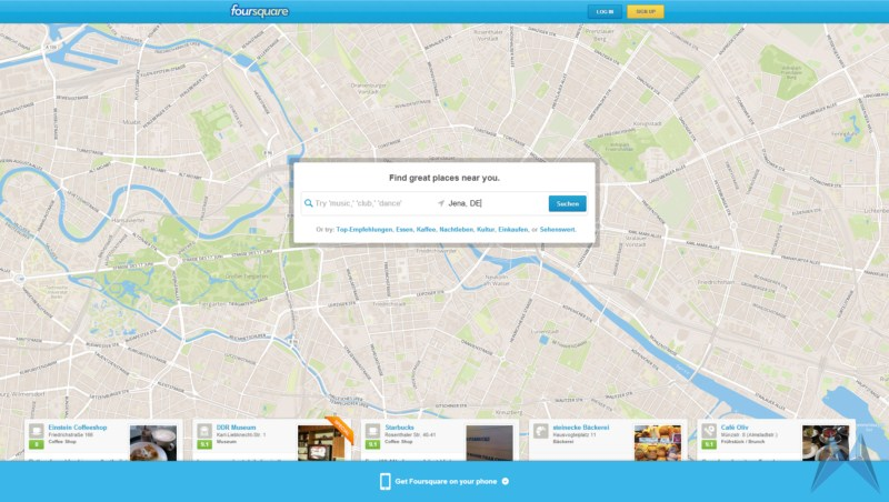 Apps check in dient foursquare lokal orte suche Update
