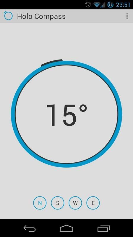 Android app Google holo kompass