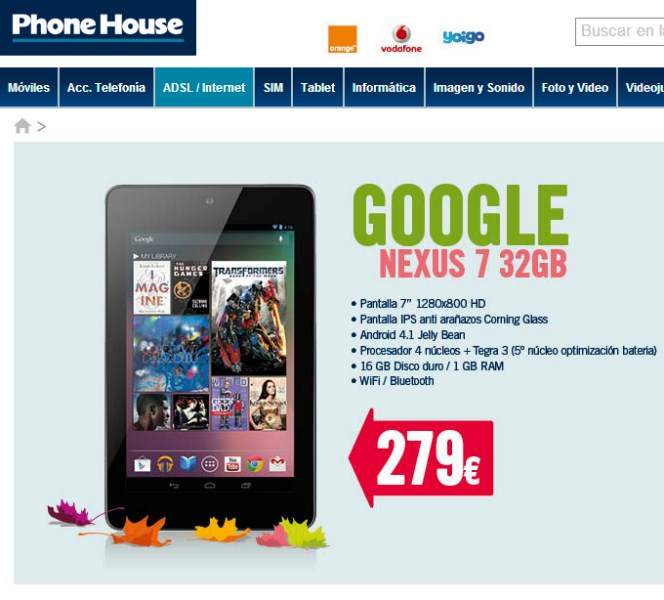 Android Asus Google Leak nexus 7 spanien