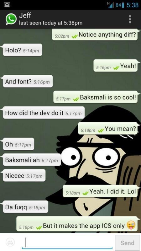 Android Devs & Geeks holo mod whatsapp