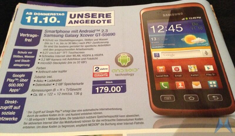 aldi Android galaxy Samsung Xcover