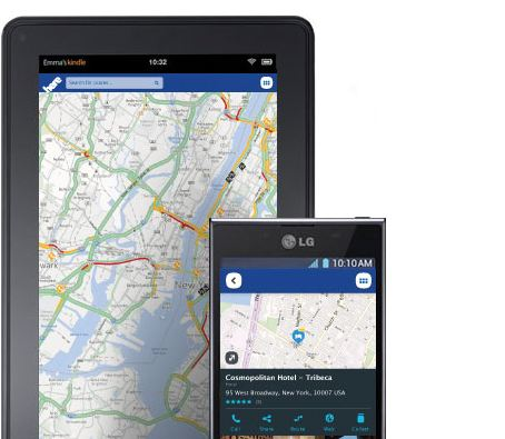 amazon Android here karten Maps Nokia