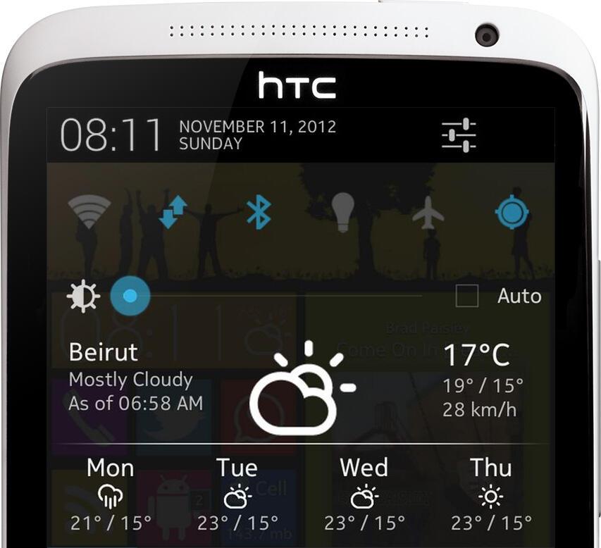 Android Benachrichtigungsleiste Wetter