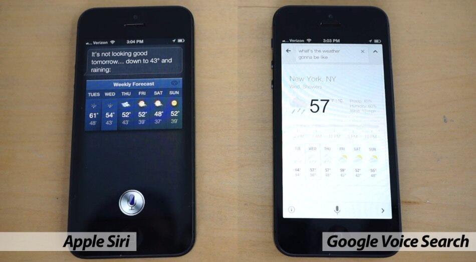 Apple Google iOS siri suche vergleich