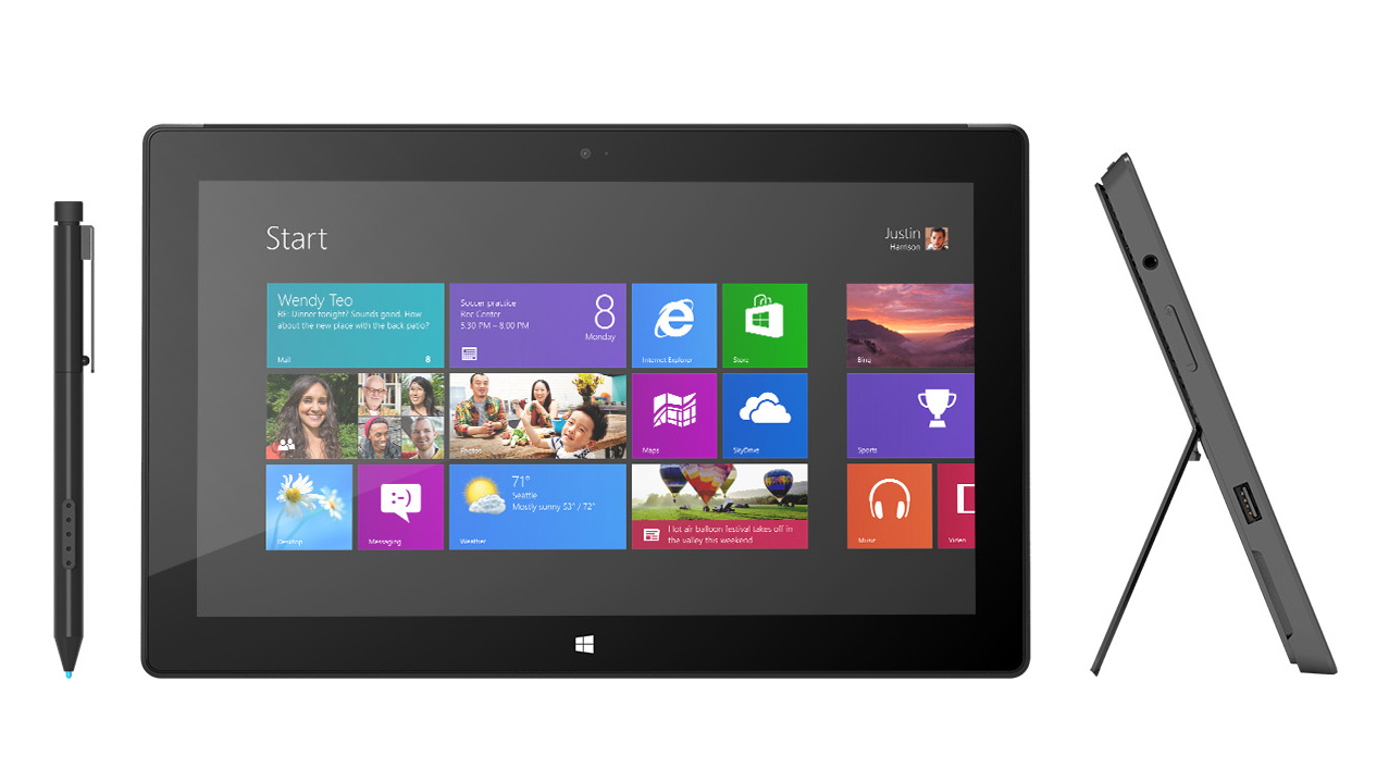 8 microsoft rt surface tablet Windows