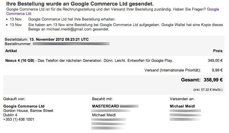Android drama Google LG Lieferzeit nexus nexus 4