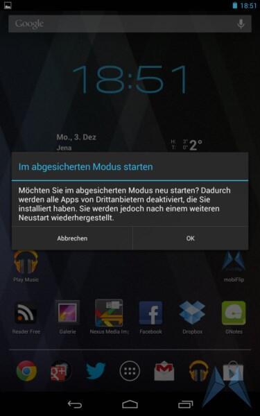 Android modus Schon gewusst? tipp