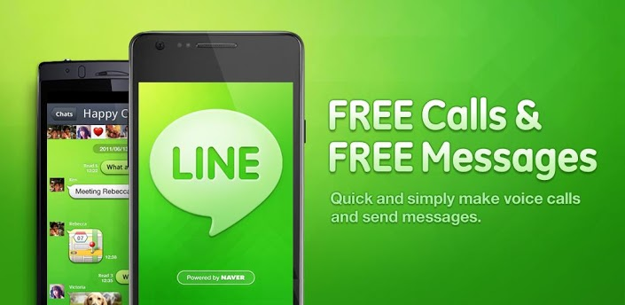 Android BlackBerry-Apps iOS line Messenger Windows