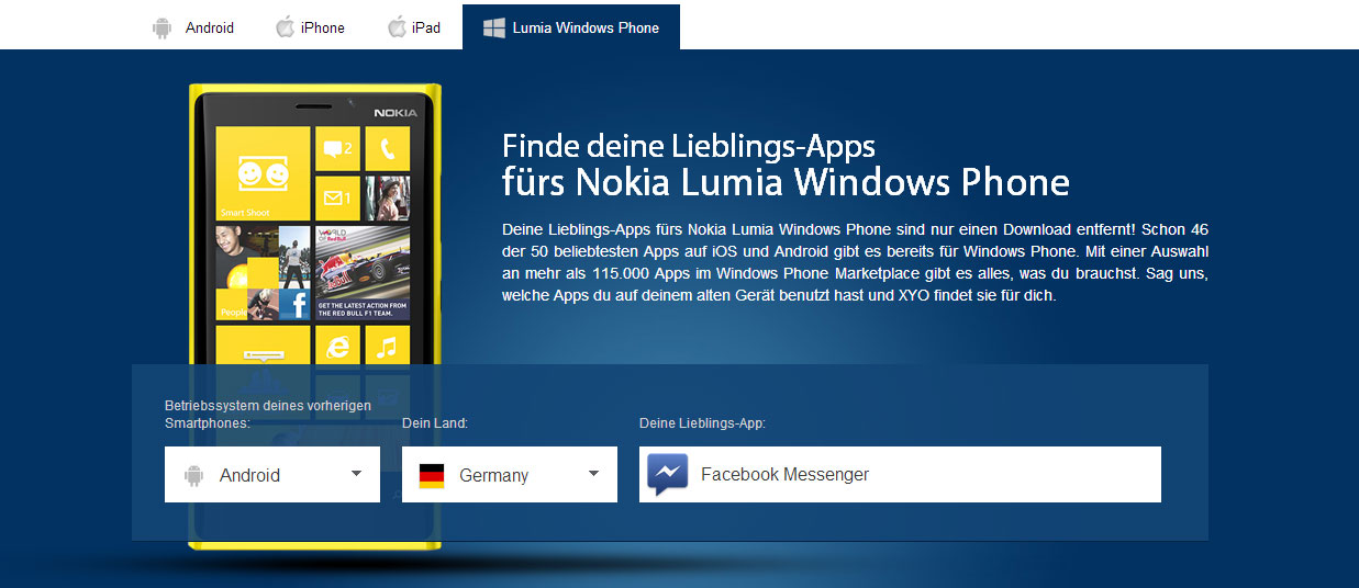Android iOS Lumia Nokia Windows Phone