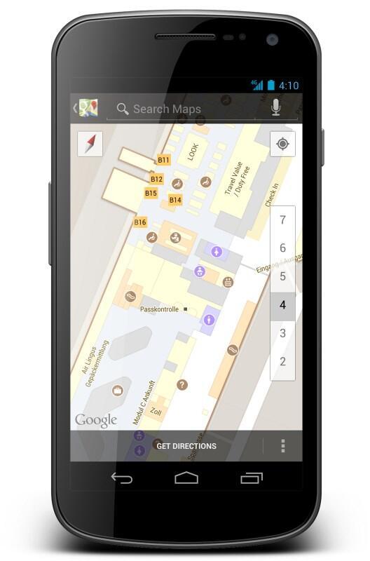 Android Google indoor karten Maps navi
