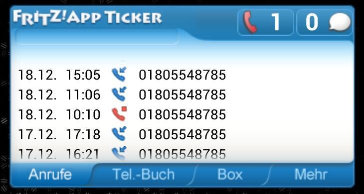 7390 Android avm Blacklist fritzbox Telefonanlage Telefonterror