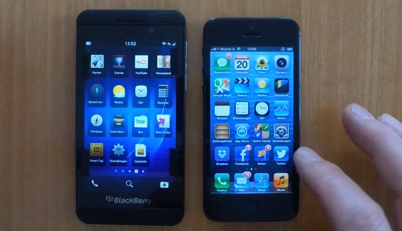 Apple BlackBerry-Apps iphone 5 rim vergleich z10