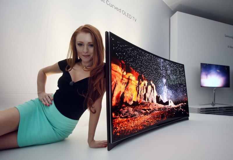 CES 2013 LG oled Samsung TV